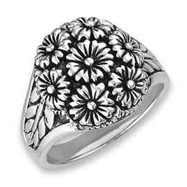 Ezüst Virág Csokor Gyűrű