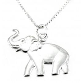 Ezüst Elefánt Medál és Lánccal