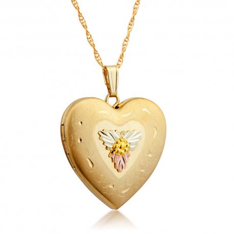 Black Hills Aranydiffőziós Nyitható Szívmedál 10 és 12 karátos Arany Díszítéssel