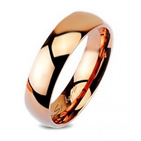 Rózsa Arany Volfrámacél Wolfram Karikagyűrű