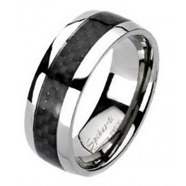 Karbon Intarziás Titánium Karikagyűrű