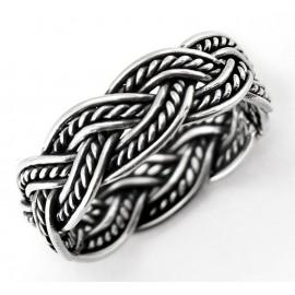 Ezüst Fonott Karikagyűrű