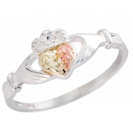 Black Hills Ezüst és 12 Karátos Arany Claddagh Gyűrű