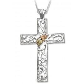 Ezüst Kereszt Medál 12k Arannyal