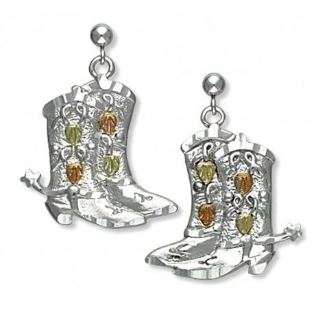 Ezüst és 12k Arany Csizma Fülbevaló