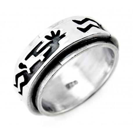 Ezüst Forgós Gyűrű Kokopellive