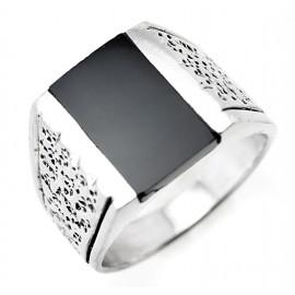 Ezüst Férfi Gyűrű Ónixszal