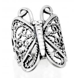 Ezüst Női Pillangó Gyűrű
