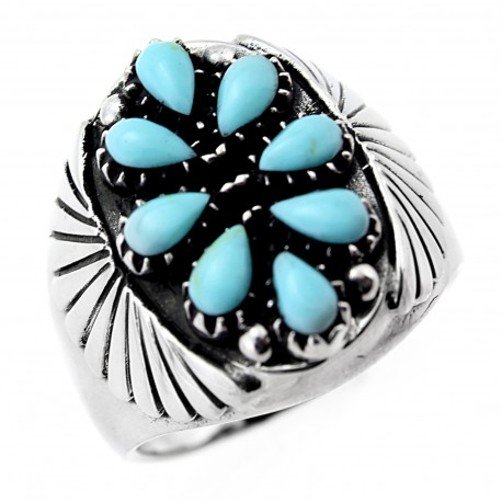 691c37935 Ezüst Női Gyűrű Türkiz Kövekkel - ÉkszerShop | Klugex