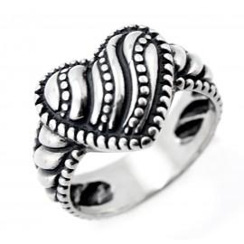 Ezüst Női Szívecskés Gyűrű