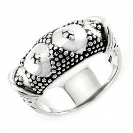 Egyedi Stílusú Bali Ezüst Gyűrű