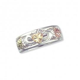 Black Hills 12K Arany és Ezüst Claddagh Gyűrű