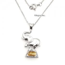 Ezüst Elefánt Medál Kívánságkarikákkal